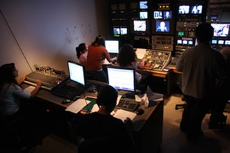 CitrusTV - The control room during a taping of CitrusTV News during the fall 2008 semester.