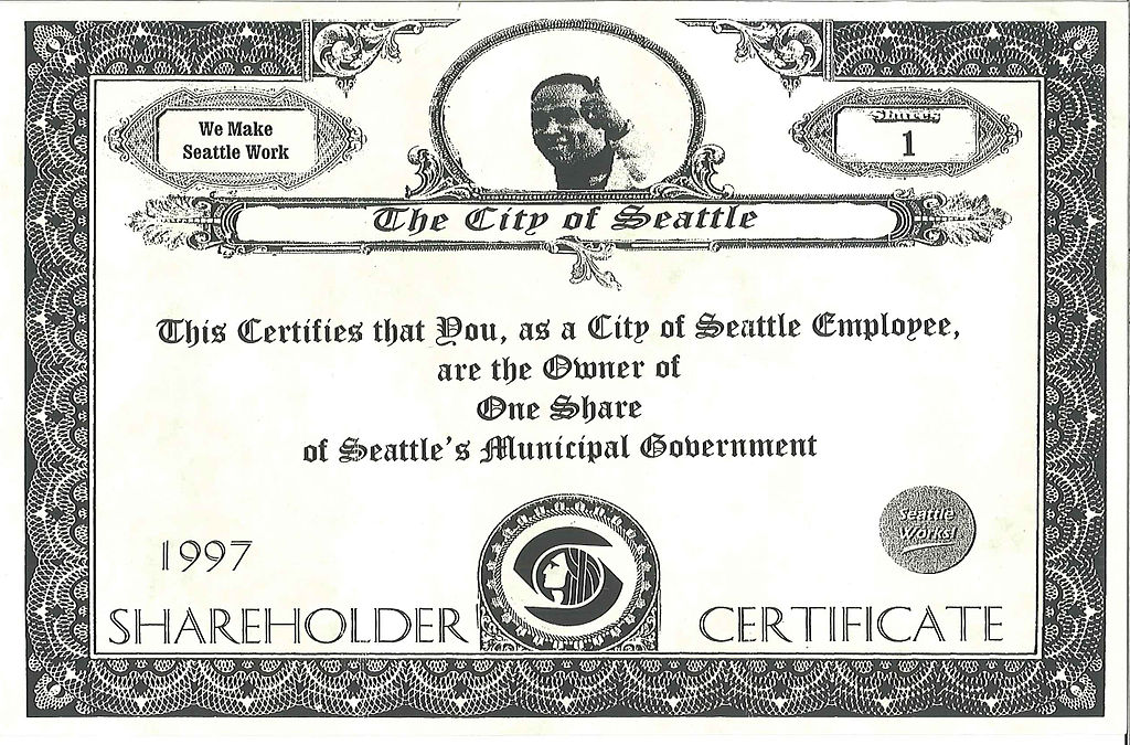 FileCity government pseudostock certificate 1997jpg – Example of Share Certificate