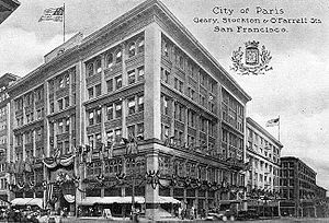 City of Paris Dry Goods Co. - The building in 1909