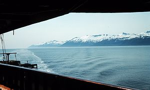 Clarence Strait - Clarence Strait, from an NOAA vessel, 1958