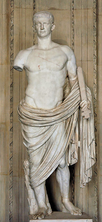 Claudius' expulsion of Jews from Rome - A statue of Roman Emperor Claudius, now in the Louvre.