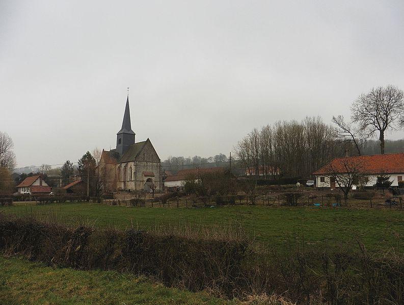 -L'église Saint-Gilles , Clenleu , Pas-de-Calais.-France