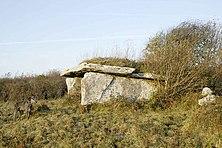 Bronze age wedge tomb in the Burren area of Ireland