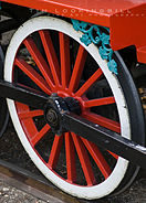 Close up detail of the Landa Park train.