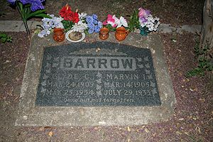 English: Photo of the grave of Clyde Barrow