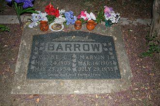 Buck Barrow - Image: Clyde barrow grave