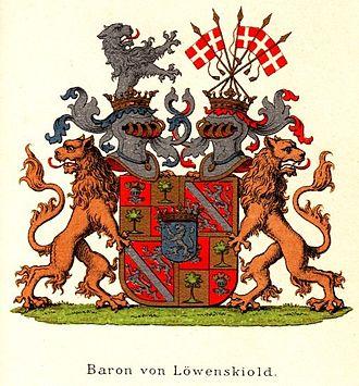 Løvenskiold (noble family) - Image: Coatofarms Baron Loevenskiold