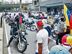 Colectivo (Venezuela) - Colectivos gathered during the Mother of All Marches on 19 April 2017.