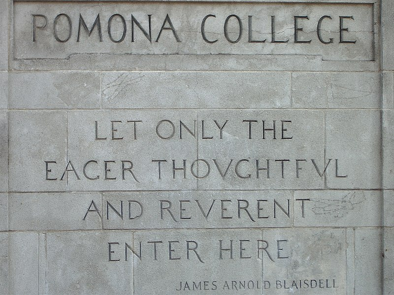 File:College Avenue Gateway, Pomona College.jpg