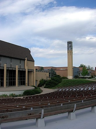 Colorado Women's College - The chapel and amphitheater at the former Colorado Women's College campus