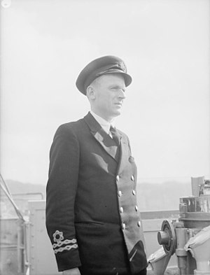 HMS Loosestrife - Image: Commander of Corvette Which Attacked Atlantic Boat Pack. 15 April 1943, Londonderry. in a Recent Convoy Battle in the Atlantic the Corvette HMS Loosestrife Attacked With Depth Charges and Probably Sank One of t A16556