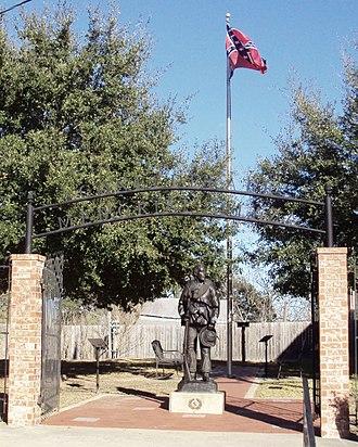 Anderson, Texas - Confederate Memorial Plaza in Anderson