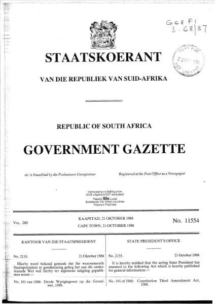 File:Constitution Third Amendment Act 1988.djvu