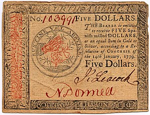 Continental Currency $5 banknote obverse (January 14, 1779).jpg