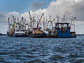 Cooped up Fishing ships in the harbour of Lauwersoog during the 5-6 december 2013 storm 04.jpg