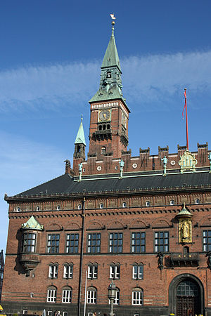 Copenhagen City Hall - Image: Copenhagen City Hall tower