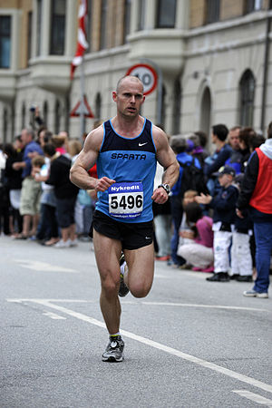 Copenhagen Marathon - Danish runner Kian Zanno Ejlertsen at the race in 2010