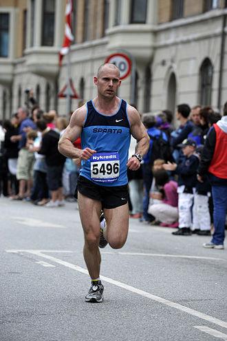 Copenhagen Marathon - Danish runner Kian Zanno Ejlertsen at the race in 2010