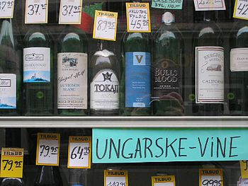 Several bottles of Hungarian wine including To...