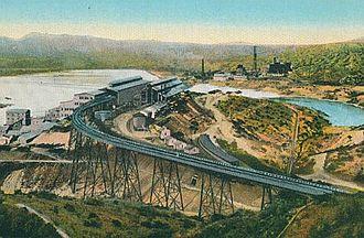 History of Arizona - Inspiration Copper Company smelter at Miami, Arizona, c. 1915