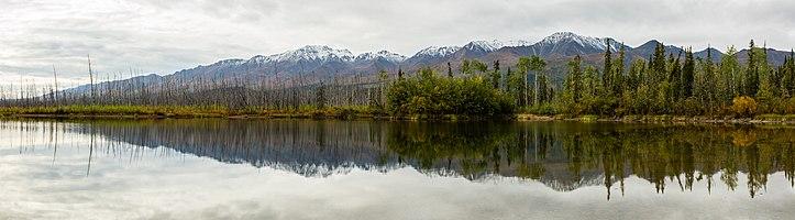 Alaska Range from Tok, Alaska, United States.