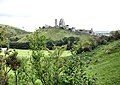 Corfe Castle from the Purbeck Way - geograph.org.uk - 1524246.jpg