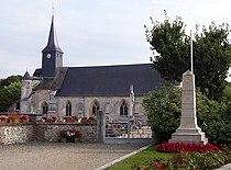 Corneville église et monument.jpg