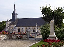 Abbey church of Notre-Dame and war memorial