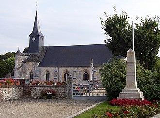 Corneville-sur-Risle - Abbey church of Notre-Dame and war memorial