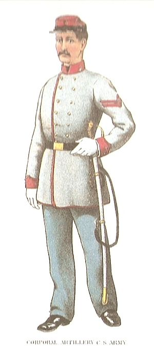 Cadet grey - Uniform of a Confederate Artillery Corporal