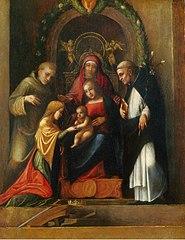 Mariage mystique de sainte Catherine d'Alexandrie et saints