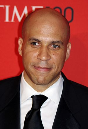 Cory Booker at the 2011 Time 100 gala.
