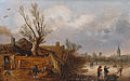 Cottages and frozen river, by Esaias van de Velde.jpg