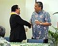 Councilman Dominic Yagong, Mayor Billy Kenoi (5239043376).jpg