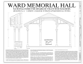 Cover Sheet - National Home for Disabled Volunteer Soldiers, Northwestern Branch, Ward Memorial Hall, 5000 West National Avenue, Milwaukee, Milwaukee County, WI HABS WI-360-B (sheet 1 of 20).png