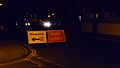 Cowes Christmas Carnival Mill Hill Road diversion signs.JPG