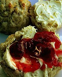 An example of the scones served with Cream tea
