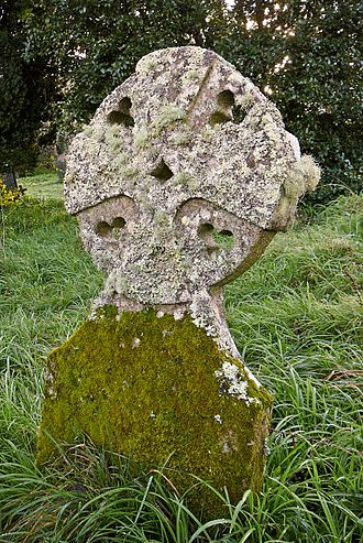Budock Water - One of the crosses in the churchyard