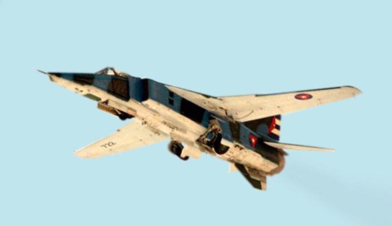 روسيا ستقرض كوبا اموال لمساعدتها على شراء اسلحه روسيه !! 800px-Cuban_MIG-27_departing_Key_West_Naval_Air_Station