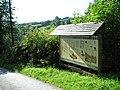 Cwmhiraeth notice board - geograph.org.uk - 1494837.jpg
