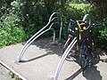 Cycle stands at Turf Locks - geograph.org.uk - 1364614.jpg