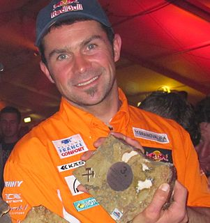 Cyril Despres French motorcycle racer