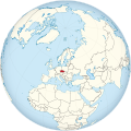Czech Republic on the globe (Europe centered).svg