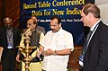 D.V. Sadananda Gowda lighting the lamp at the Round Table Conference on 'Data for New India', organised by the Ministry of Statistics & Programme Implementation, in New Delhi.JPG