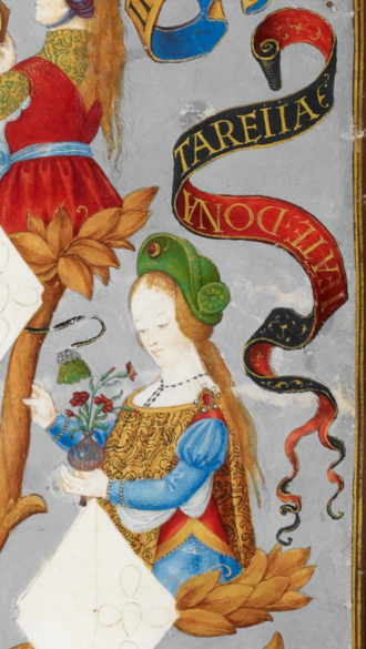 Theresa of Portugal, Countess of Flanders - Teresa in Genealogy of the Kings of Portugal (António de Holanda, 1530–1534)