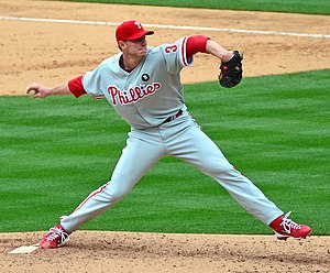 Cy Young Award - Roy Halladay, one of only six pitchers in baseball history to win the Cy Young in both leagues; in 2003 with the Toronto Blue Jays and in 2010 with the Philadelphia Phillies