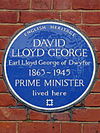 DAVID LLOYD GEORGE Earl Lloyd George of Dwyfor 1863-1945 PRIME MINISTER lived here.jpg