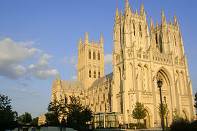 Washington National Cathedral in der Abendsonne (August 2009)