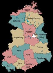 Mapa Niemieckiej Republiki Demokratycznej