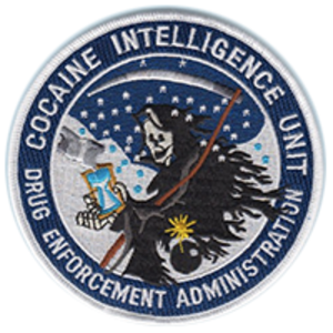 "Chapo Trap House - The logo used by Chapo Trap House is an embroidered patch of the Drug Enforcement Administration's ""Cocaine Intelligence Unit"""